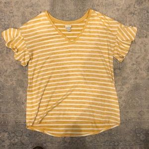 A New Day V neck tee